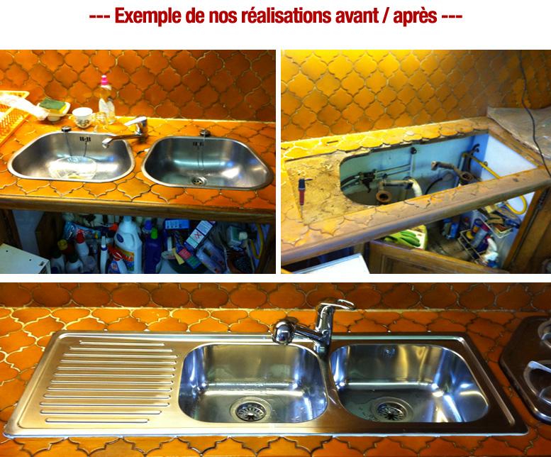 remplacement evier robinet plombier pas cher paris 15