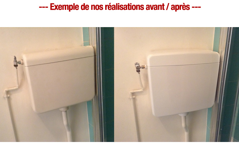 remplacement reservoir robinet toilette wc