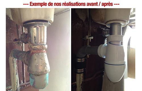 remplacement syphon plombier pas cher paris 1