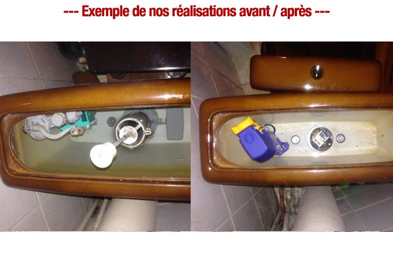 reparation wc chasse d'eau plombier pas cher paris 11